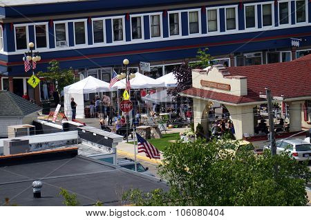 View of the Harbor Springs Farmers' Market