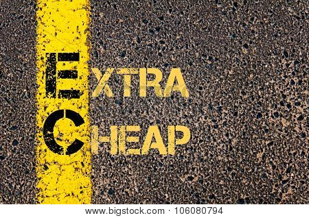 Business Acronym Ec As Extra Cheap