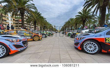 WRC Cars in Salou , Spain
