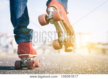 Skater Close Up In Action