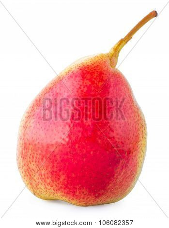 One Pear On A White Background