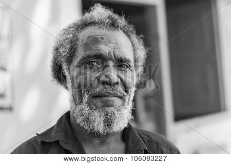 Portrait Of An East Timorese Native