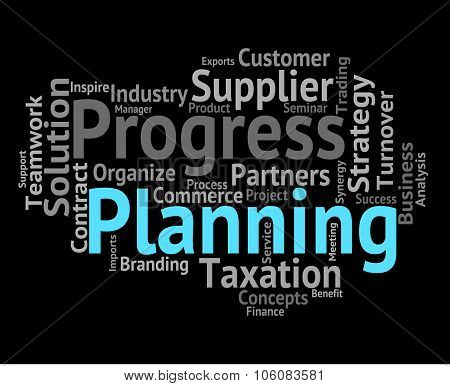 Planning Word Represents Objectives Wordclouds And Aim