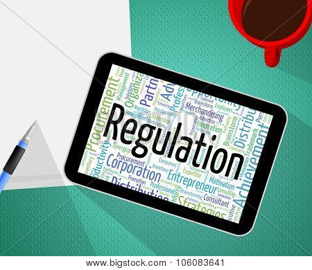 Regulation Word Means Edict Rule And Law
