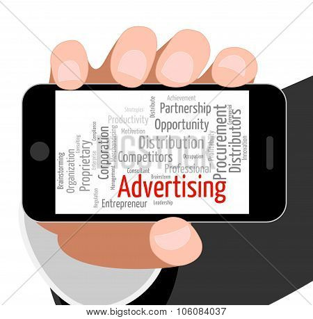 Advertising Word Means Adverts Market And Marketing