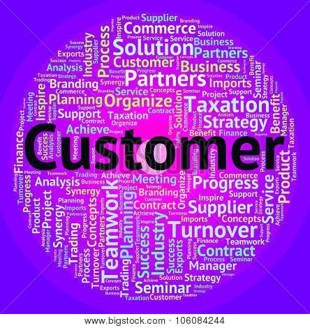 Customer Word Means Client Buyers And Wordclouds