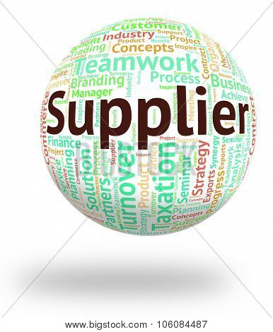 Supplier Word Means Trader Distribute And Retailer