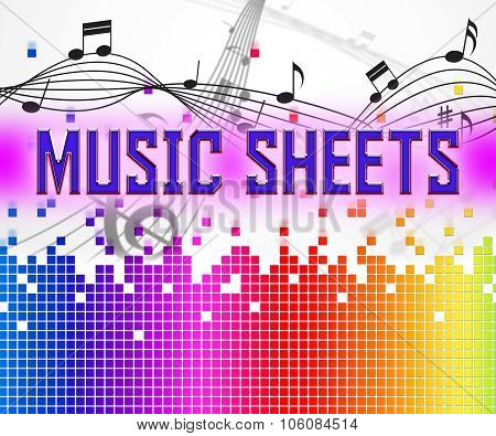 Sheet Music Shows Sound Tracks And Acoustic