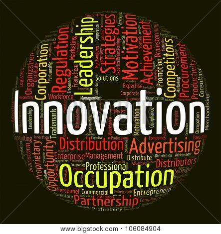 Innovation Word Shows New Idea And Improve