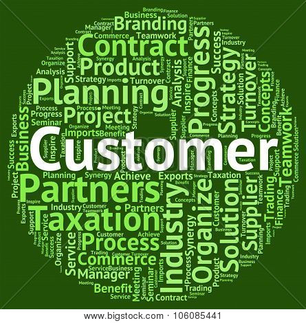 Customer Word Indicates Shopper Buyers And Client