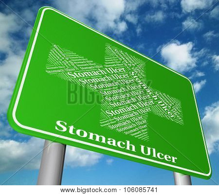 Stomach Ulcer Indicates Ill Health And Abdomens