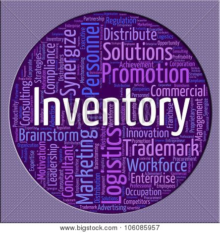 Inventory Word Shows Wordclouds Merchandise And Supply