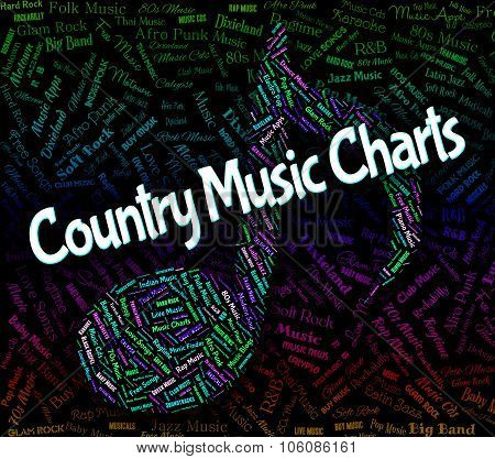 Country Music Charts Shows Best Seller And Audio