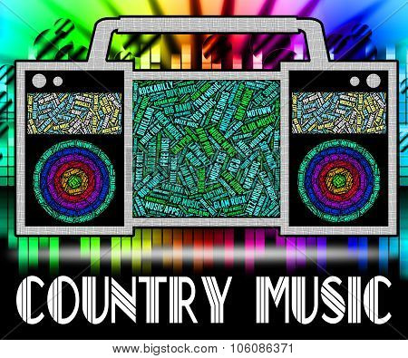 Country Music Shows Sound Tracks And Audio