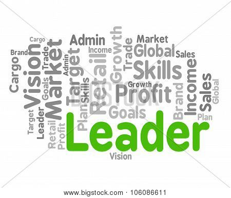 Leader Word Represents Wordclouds Control And Management