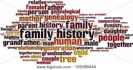Family History Word Cloud