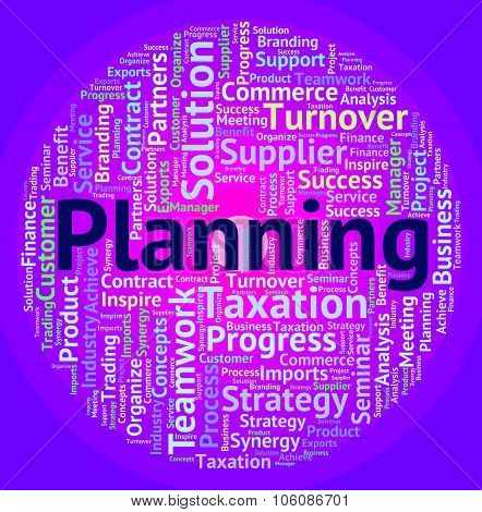 Planning Word Indicates Goals Objective And Target