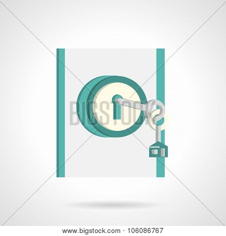 Home entrance abstract flat vector icon