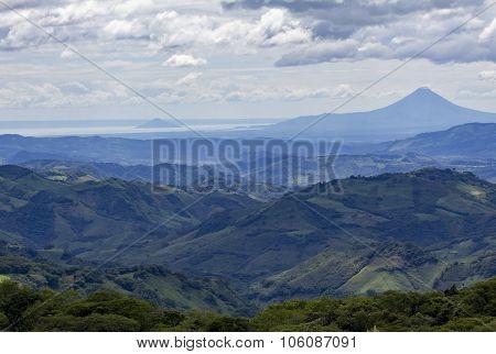 Nicaraguan Landscape With Volcano