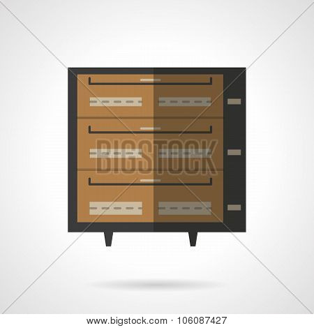 Bakery stove flat color vector icon