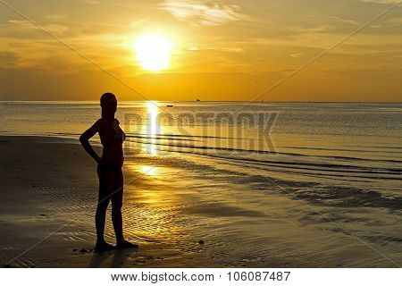 Sunrise Silhouette Lady