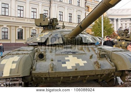 Tank On Exhibition Of Military Equipment In Kyiv