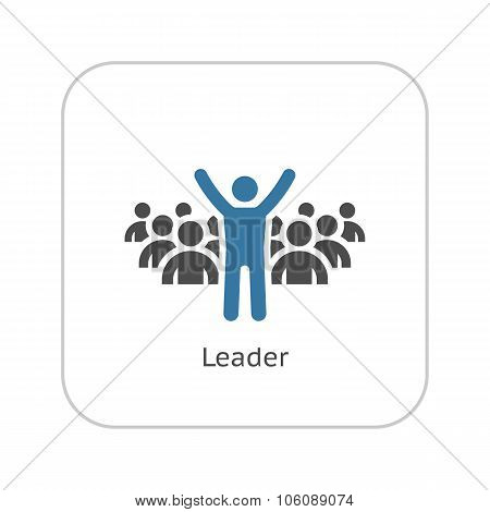 Leader Icon. Business Concept. Flat Design.