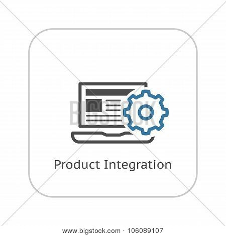 Product Integration Icon. Flat Design.
