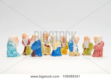 Scene With Ancient Chinese Poreclain Figurines