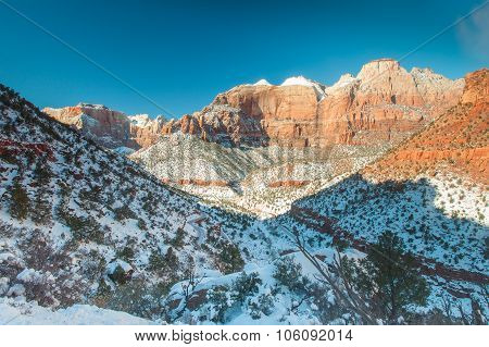 Zion National Park In Winter