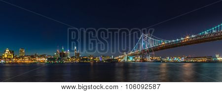 Philadelphia Skyline At Night