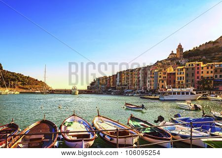 Portovenere Village On The Sea. Cinque Terre, Ligury Italy