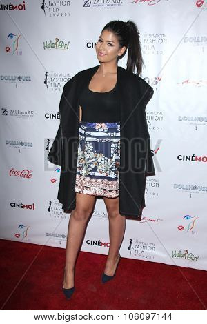 LOS ANGELES - OCT 25:  Dani Rey at the Internation Film Fashion Awards at the Saban Theater on October 25, 2015 in Los Angeles, CA