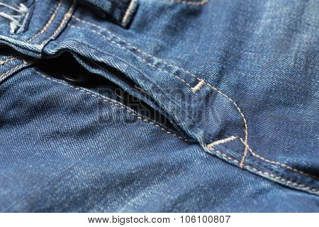 Blue Denim Jeans Pants With Crotch Of Trousers