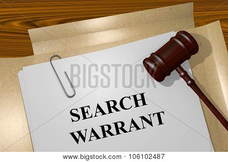 Search Warrant Concept