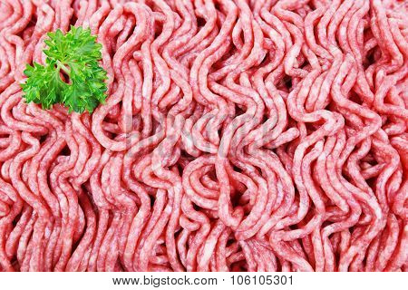 Closeup image of fresh ground beef
