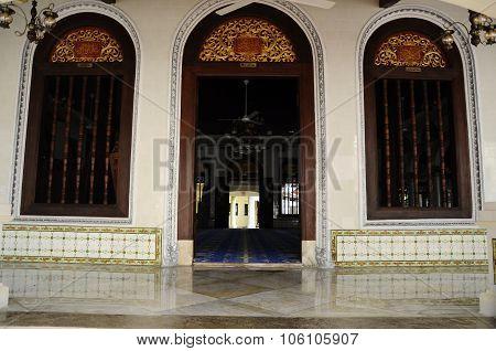 Entrance of Kampung Kling Mosque at Malacca, Malaysia