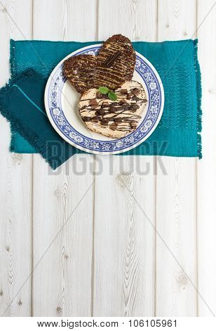 Palmera Biscuit Color On Wood