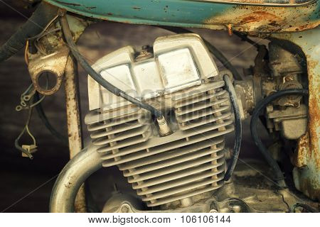 Old Motorcycle Engine