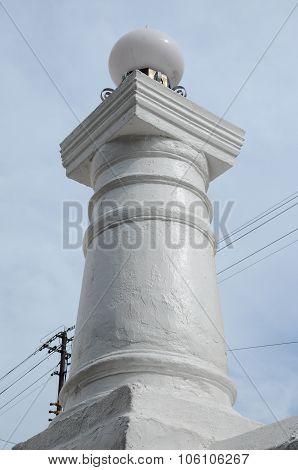 Fence column detail at Kampung Kling Mosque at Malacca, Malaysia
