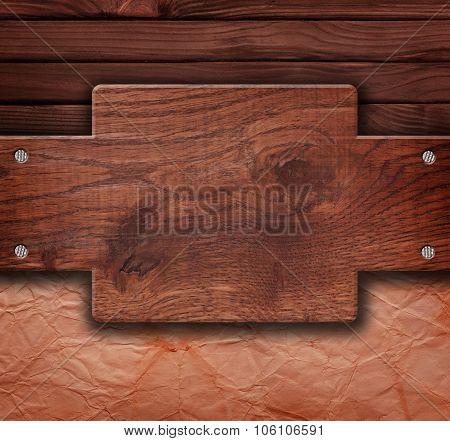 Empty Wooden Board