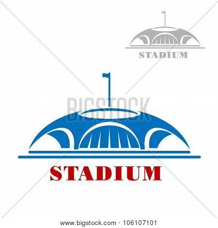 Blue sport stadium complex icon