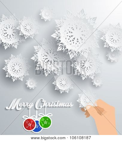Snowflakes Background. Merry Christmas