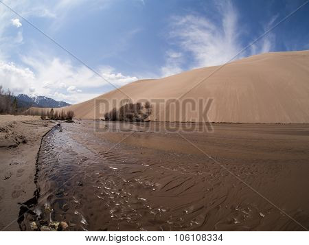 Medano Creek At Great Sand Dunes National Park