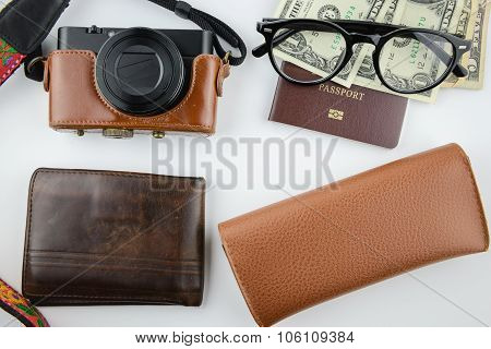 Traveler Stuffs Brown Leather Tone