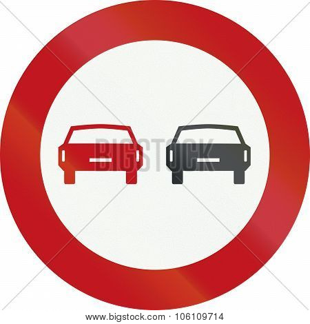 A Dutch Prohibition Sign - No Overtaking