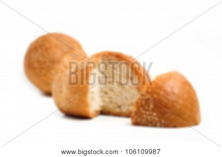 Blur Background And Sourdough Bread Isolate On White Background
