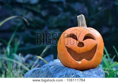 Pumpkin on the rock II