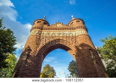 Soldiers And Sailors Memorial Arch In Hartford.
