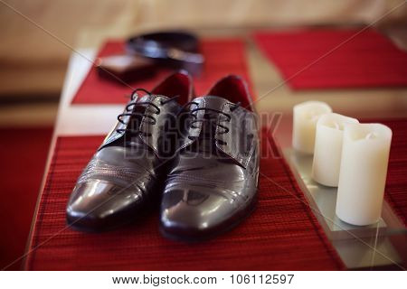 Elegant Black Shoes For The Groom